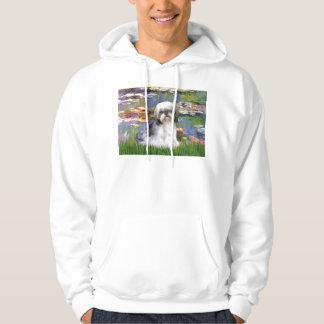 Lilies (#2) - Shih Tzu #5 Hooded Sweatshirt