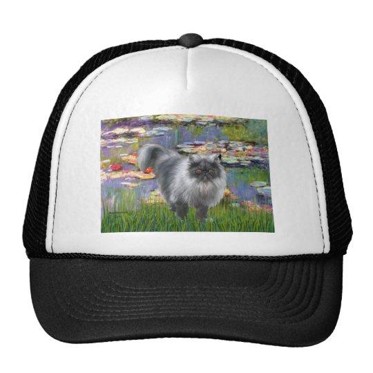 Lilies 2 - Silver Persian cat Trucker Hat