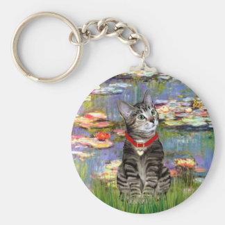 Lilies #2 - Tabby Tiger Cat 31 Keychain