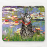 Lilies #2 - Tabby Tiger Cat 31 Mouse Pad