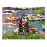 Lilies #2 - Tabby Tiger Cat 31 Post Card