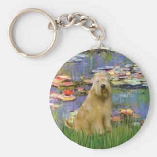 Lilies 2 - Wheaten Terrier Keychain