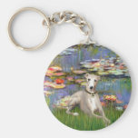 Lilies 2 - Whippet #2 Key Chains