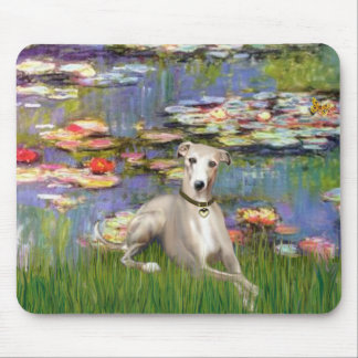 Lilies 2 - Whippet #2 Mouse Pad