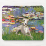 Lilies 2 - Whippet #2 Mouse Pads