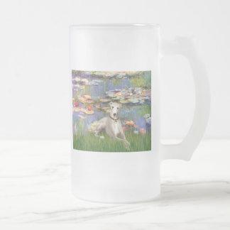 Lilies 2 - Whippet #2 Mug
