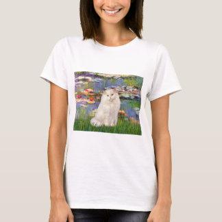 Lilies 2 - White Persian cat T-Shirt
