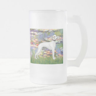 Lilies 2 - White Whippet (11b) Mug