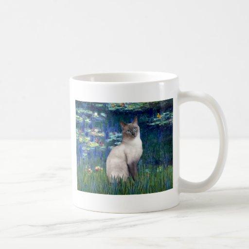 Lilies 5 - Blue Point Siamese cat Coffee Mug