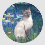 Lilies 5 - Blue Point Siamese cat Stickers