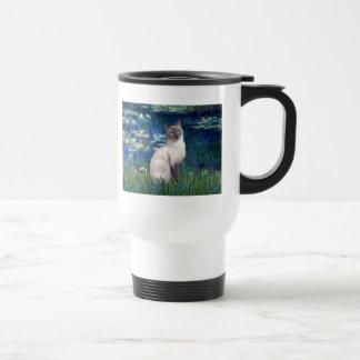 Lilies 5 - Blue Point Siamese cat Travel Mug