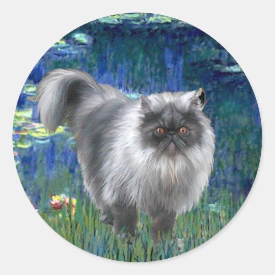 Lilies 5 - Blue Smoke Persian cat Classic Round Sticker