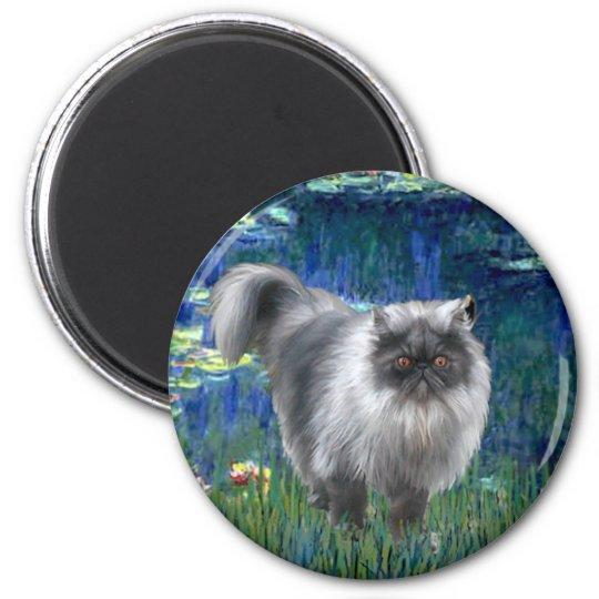 Lilies 5 - Blue Smoke Persian cat Magnet