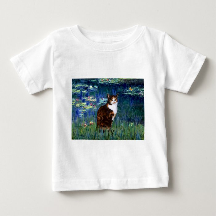 Lilies 5 - Calico cat Baby T-Shirt