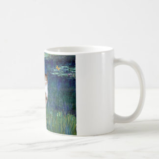 Lilies 5 - Calico cat Coffee Mug