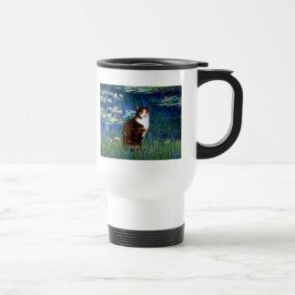 Lilies 5 - Calico cat Travel Mug