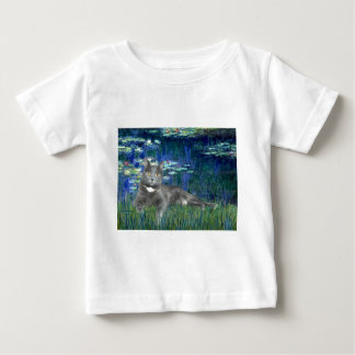 Lilies 5 - Grey cat Baby T-Shirt