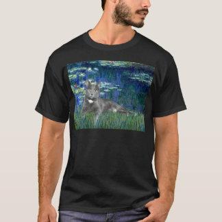 Lilies 5 - Grey cat T-Shirt