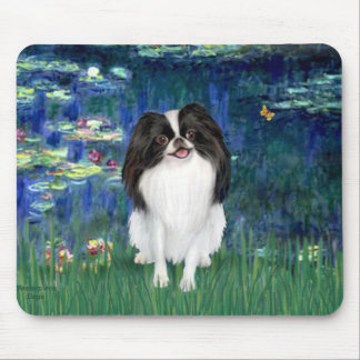 Lilies 5 - Japanese Chin 3 Mouse Pad