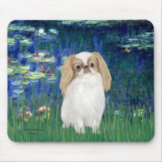 Lilies 5 - Japanese Chin (L1) Mouse Pad
