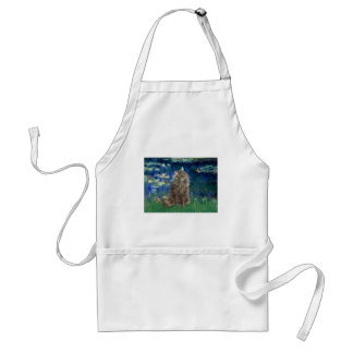 Lilies 5 - Norwegian Forest cat Adult Apron