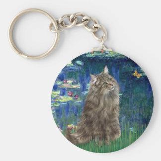Lilies 5 - Norwegian Forest cat Keychain
