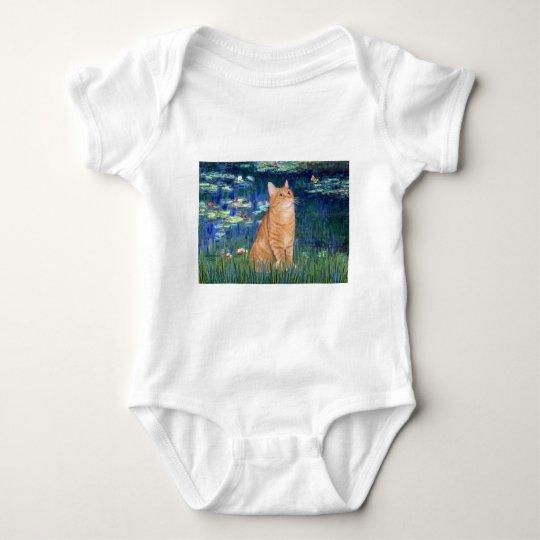 Lilies 5 - Orange Tabby SH cat 46 Baby Bodysuit