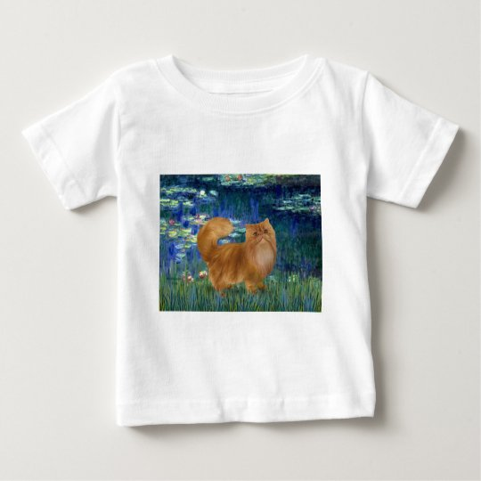 Lilies 5 - Red Persian cat Baby T-Shirt