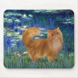 Lilies 5 - Red Persian cat Mouse Pad