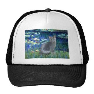 Lilies 5 - Russian Blue cat 2 Trucker Hat