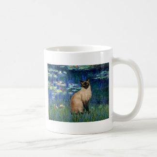 Lilies 5 - Seal Point Siamese cat Coffee Mug
