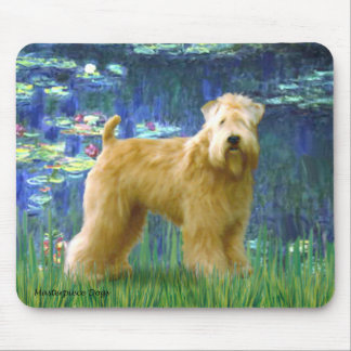 Lilies 5 - Wheaten Terrier (stand) Mouse Pad