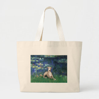 Lilies 5 - Whippet #2 Large Tote Bag