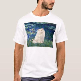 Lilies 5 - White Persian cat T-Shirt