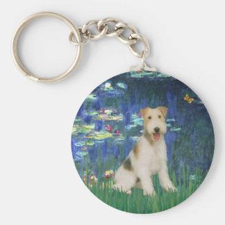 Lilies 5 - Wire Fox Terrier #1 Keychain
