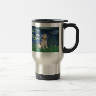 Lilies 5 - Wire Fox Terrier #1 Travel Mug