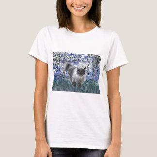 Lilies 6 - Blue Smoke Persian cat T-Shirt