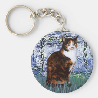 Lilies 6 - Calico cat Keychain