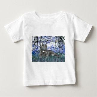 Lilies 6 - Grey cat Baby T-Shirt