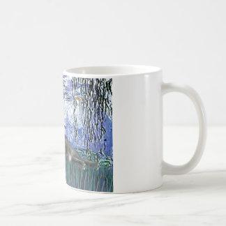 Lilies 6 - Grey cat Coffee Mug