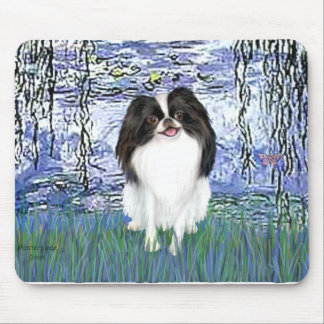 Lilies 6 - Japanese Chin 2 Mouse Pad