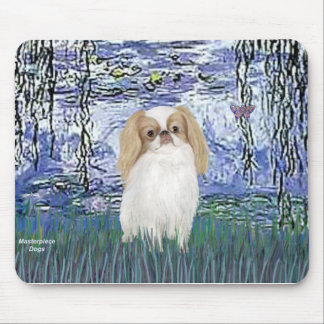 Lilies 6 - Japanese Chin (L1) Mouse Pad