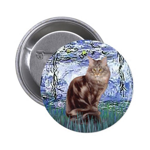 Lilies 6 - Maine Coon cat 10 Buttons