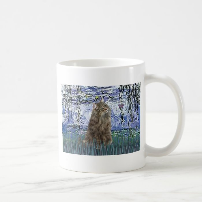 Lilies 6 - Norwegian Forest Cat Coffee Mug