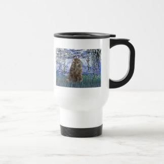 Lilies 6 - Norwegian Forest Cat Travel Mug