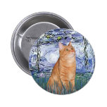 Lilies 6 - Orange Tabby cat 46 Buttons