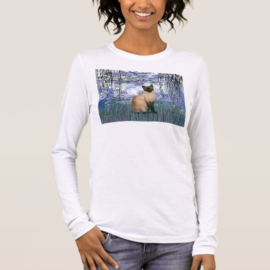Lilies 6 - Seal Point Siamese cat Long Sleeve T-Shirt