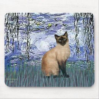 Lilies 6 - Seal Point Siamese cat Mouse Pad