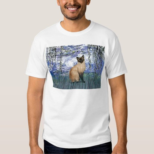 Lilies 6 - Seal Point Siamese cat Tees