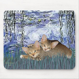 Lilies 6 - Two Tabby kittens Mouse Pad
